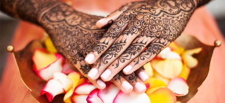 Indian Bride's Hands with Henna
