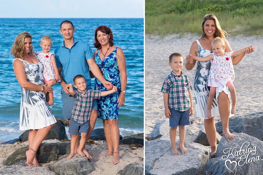 Family Portraits at the Beach