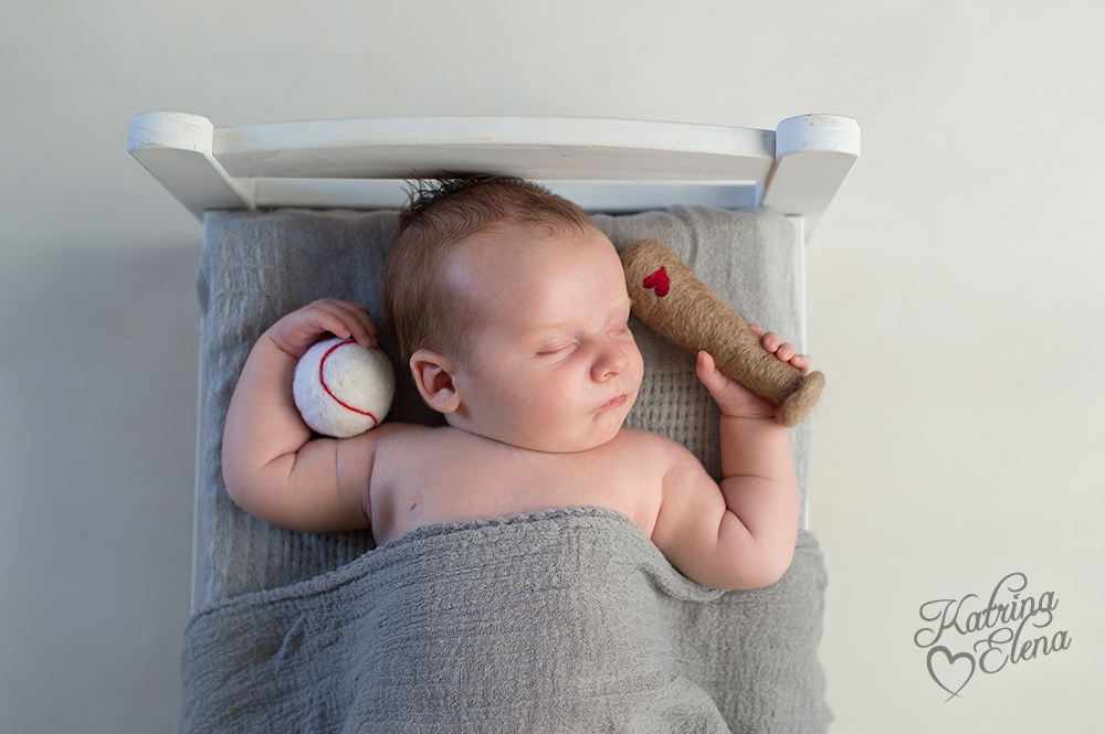 Baby Boy Dreaming of Baseball