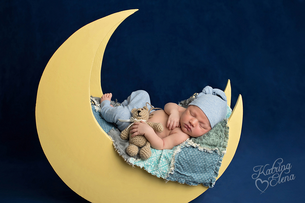 Baby Boy on Yellow Moon