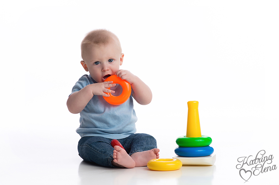 Baby Teething on Ring Toss Toy