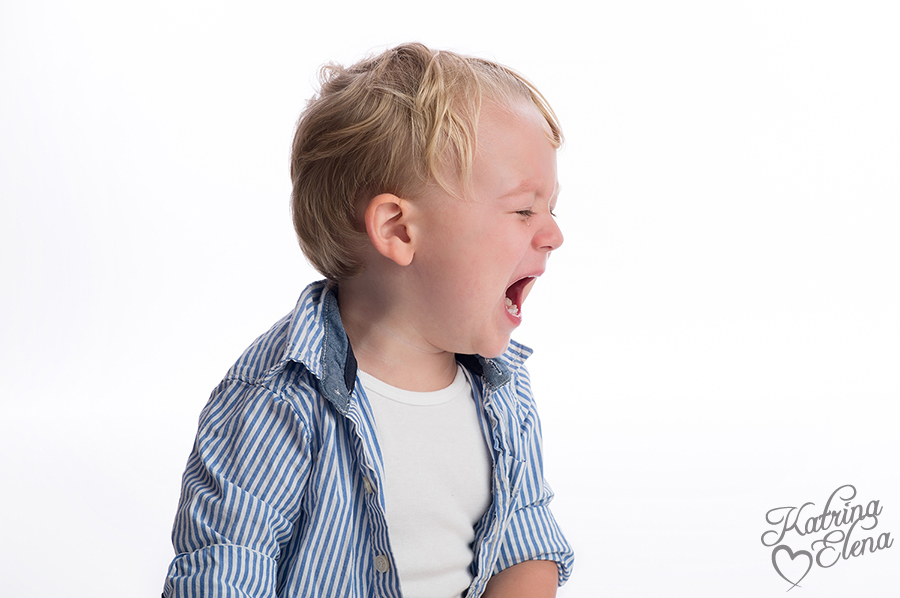 Unhappy, Crying Toddler Aged Boy